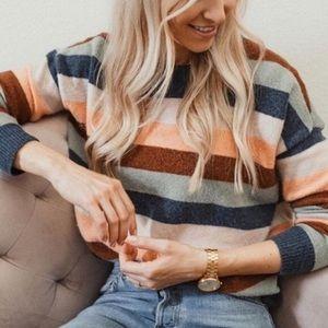 Madewell Wool Pullover Sweater Elmwood Stripe XS